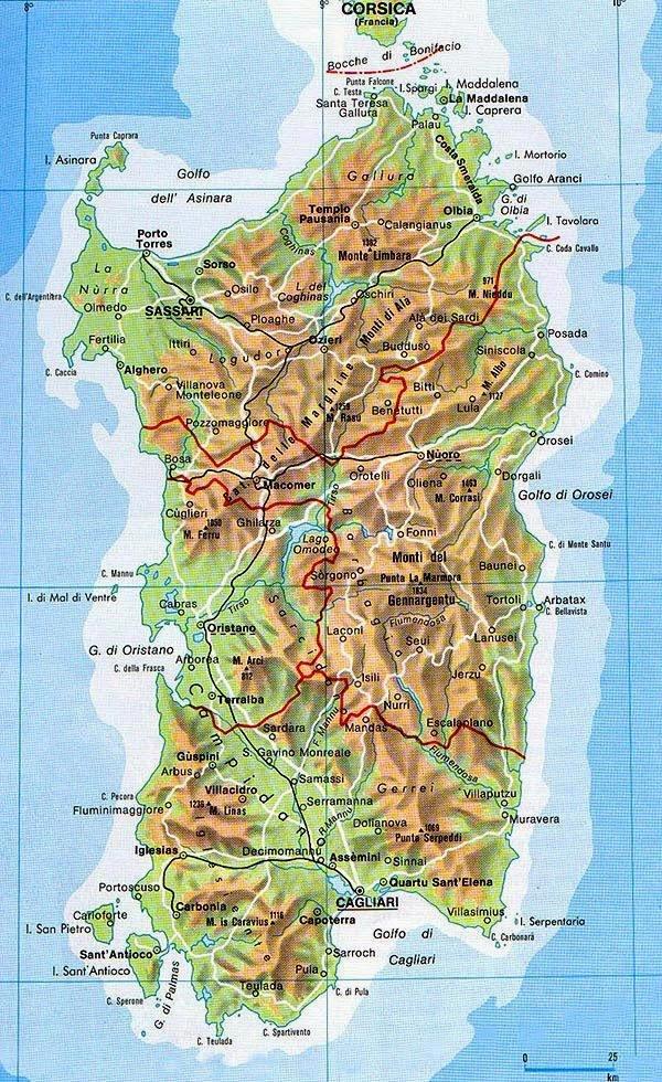 Cartina Sardegna 2017.Immagini Cartina Sardegna