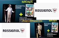 """Concorso """"Rossignol Ride Free"""" : vinci gratis 5 Kit da Sci da uomo o donna, gioco Ubisoft e 20 buoni spesa da 100 euro"""
