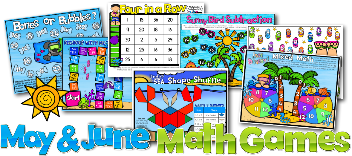 Math Games to End the Year! - Sunny Days in Second Grade