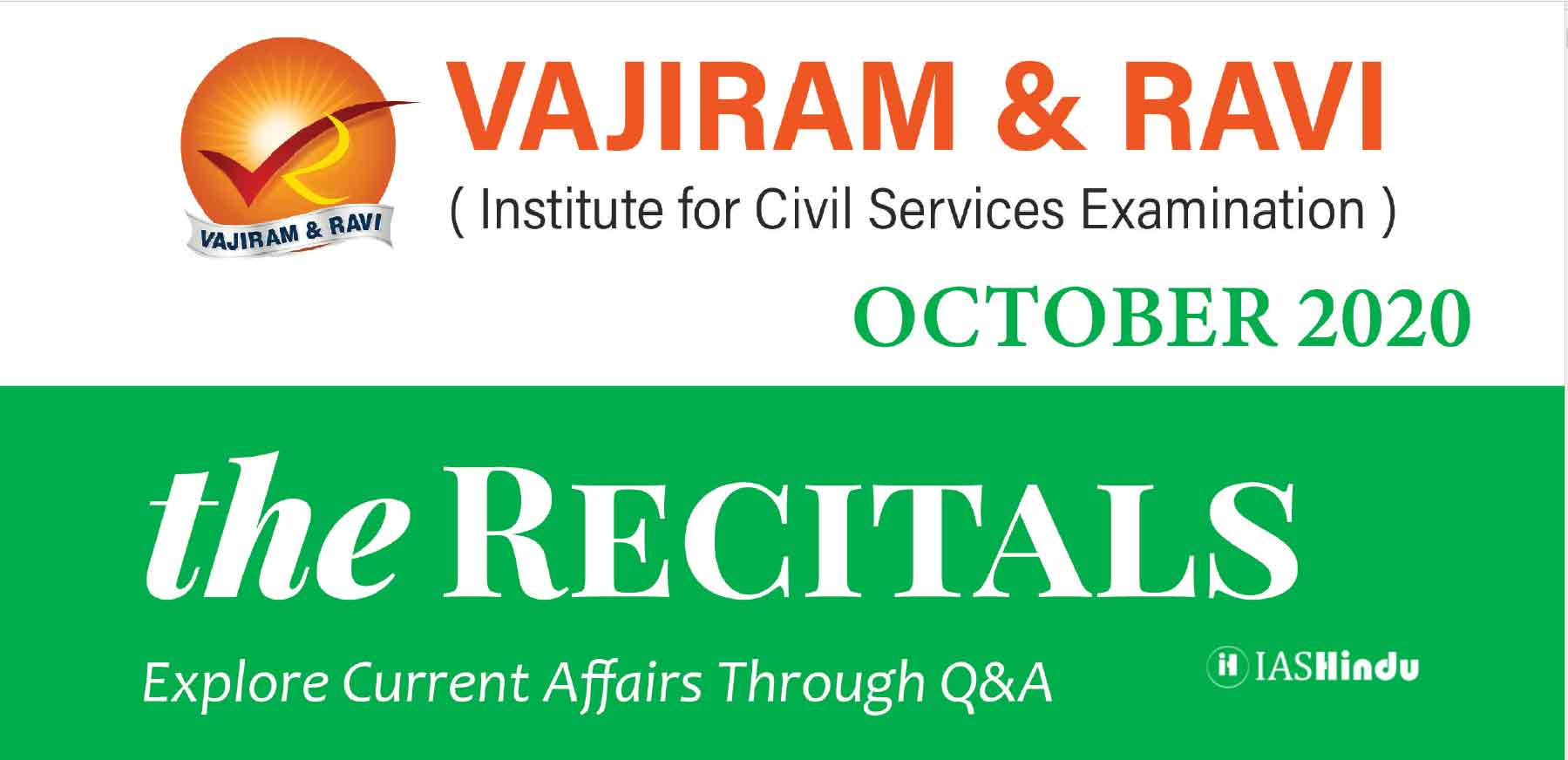 Vajiram Current Affairs October 2020