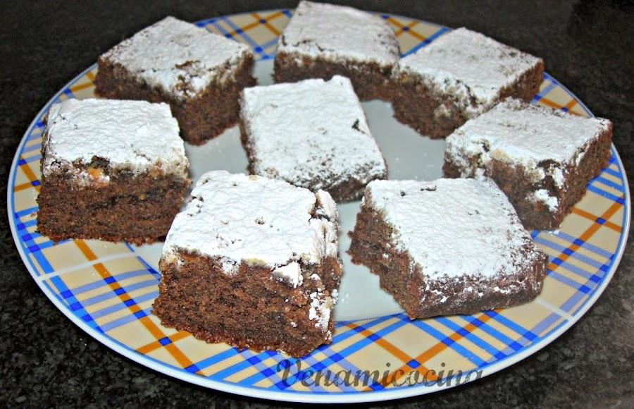 Brownie dos chocolates sin gluten