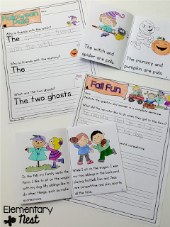 small group Fold and Go Differentiated mini books- Fall Activities for a primary classroom- PLUS a freebie!