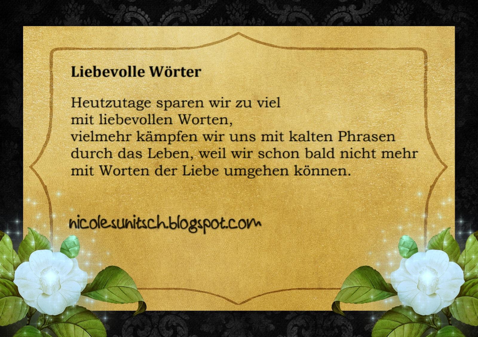 Gedichte Von Nicole Sunitsch Autorin Spruche Liebevolle