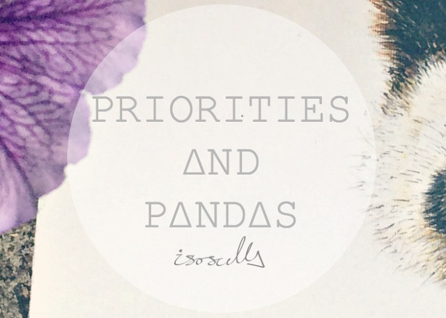 Priorities and pandas painting header