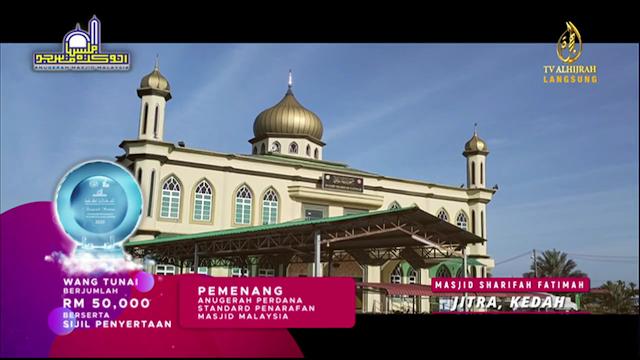 Masjid Sharifah Fatimah Kedah Anugerah Masjid Malaysia 2021
