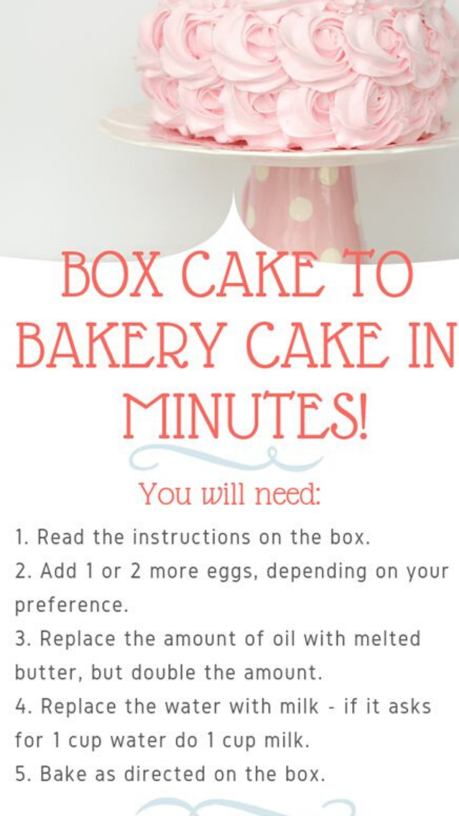 a Bakery Cake In Minutes! - The Girl Outnumbered Desserts