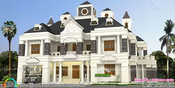 6600 sq-ft 5 bedroom Colonial style house plan