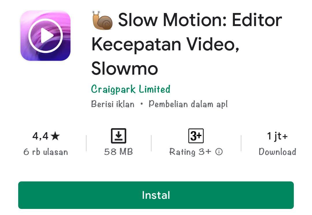 Aplikasi slow motion di android