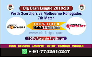 Who will win Today BBL T20, 7th Match Renegades vs Perth - Cricfrog