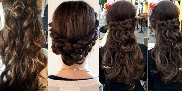 Stunning Chocolate Updos The Haircut Web