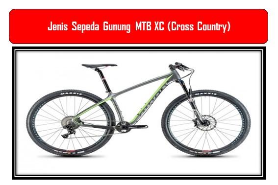 Jenis Sepeda Gunung MTB XC (Cross Country)
