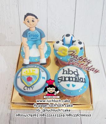 Cupcake Ulang Tahun Manchester City