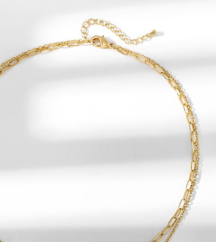 造型風貝殼雙層項鍊