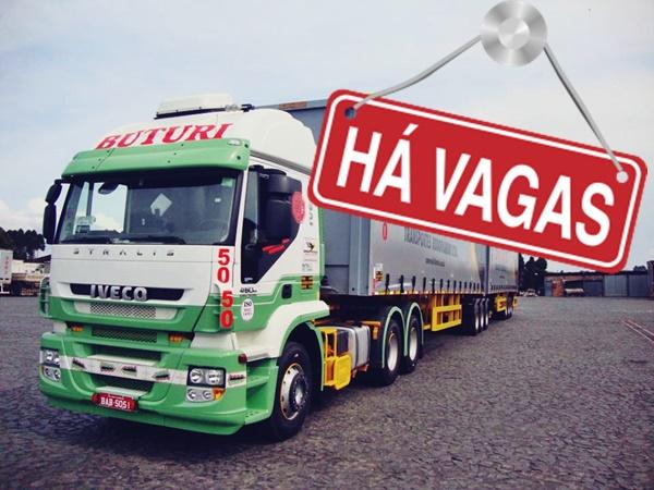 Transportadora Buturi abre vagas para Motorista