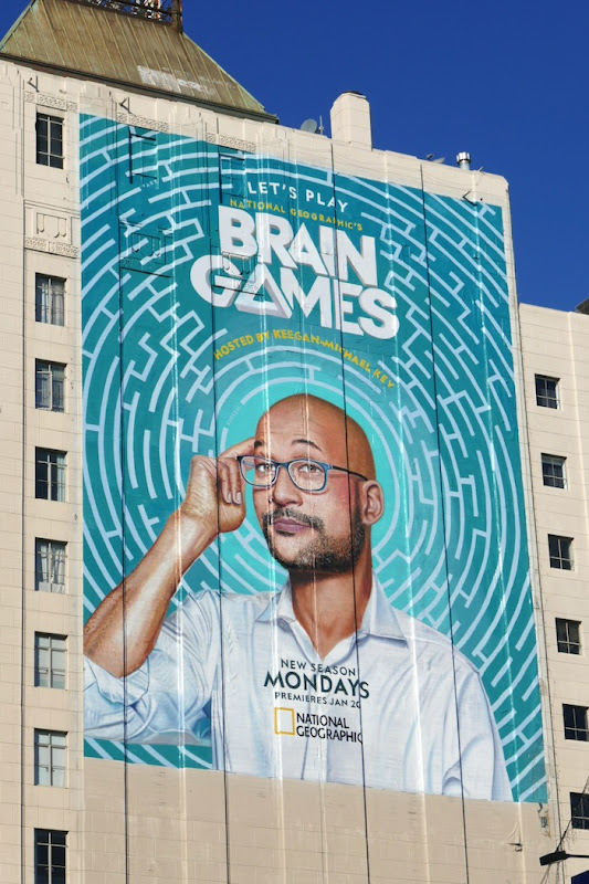 Giant Brain Games series premiere billboard