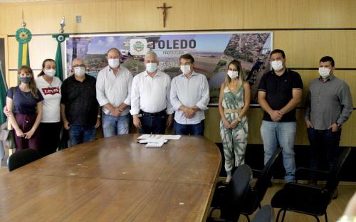 Deputado estadual visita Toledo e é recepcionado pelo poder executivo