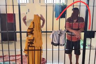 Foto TERDUGA Pelaku Pemerkosaan Anak Kandung Selama 10 Tahun Di Kupang