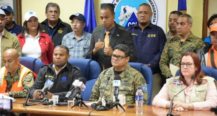 COE descontinúa avisos de huracán y tormenta para la República Dominicana