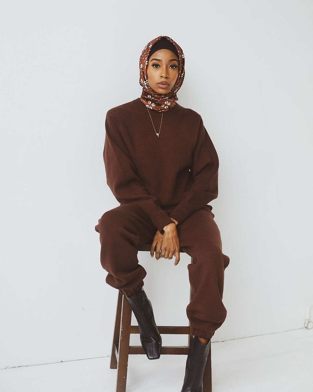 All brown outfit