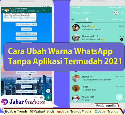 Cara Mengubah Warna Whatsapp Tanpa Aplikasi Termudah 2021