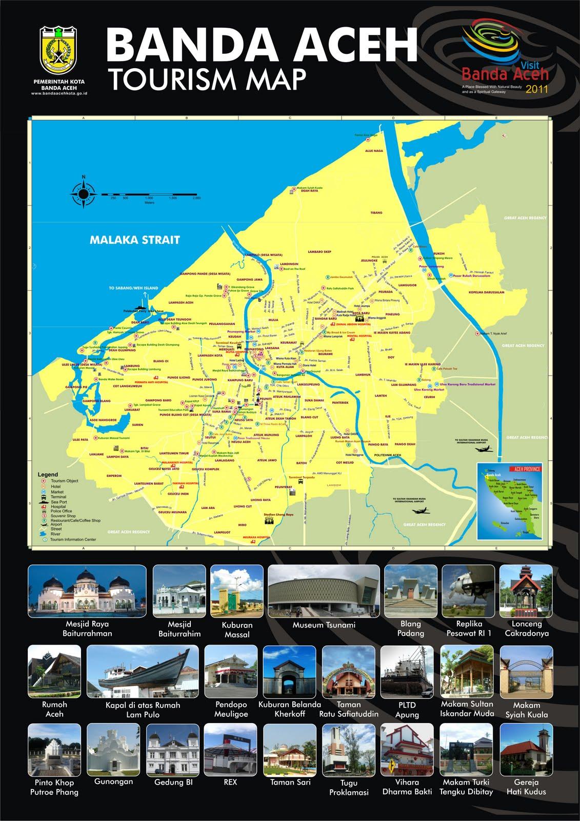 Peta Wisata Kota Banda Aceh  Share In Love