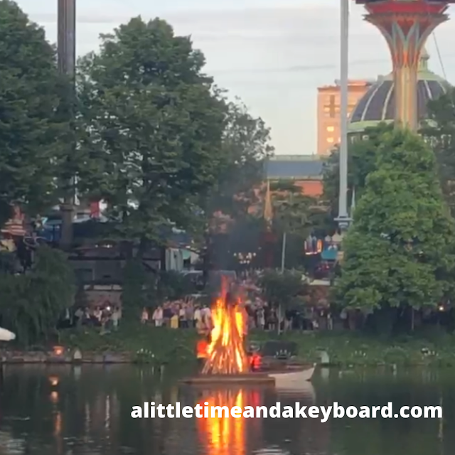 Lighting the Summer Solstice Pyre at Tivoli Gardens.