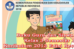 Buku Guru dan Siswa SD Kelas 3 Semester 1 Kurikulum 2013 Edisi Revisi 2018