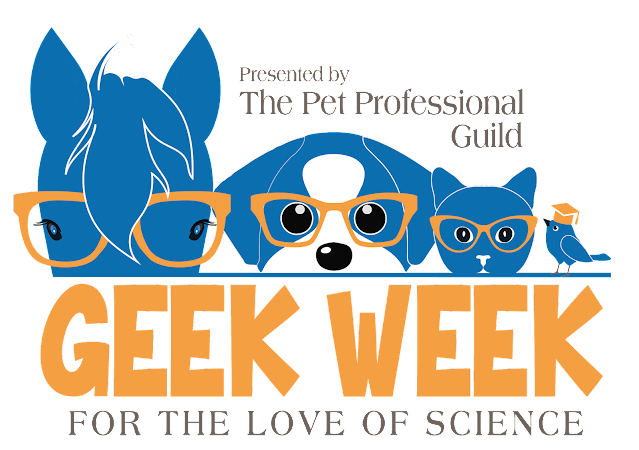 The Pet Professional Guild's Geek Week logo. The event takes place 11-15 Nov 2020
