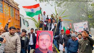 बाराबंकी : किसान आंदोलन के समर्थन में सपा एमएलसी राजेश यादव ने भरी हुंकार