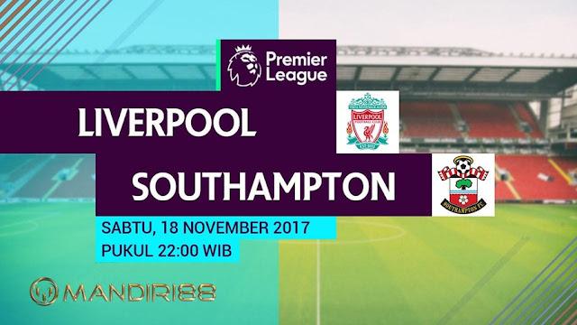 Liverpool akan menghadapi Southampton di Stadion Anfield pada berkelahi pekan ke Berita Terhangat Prediksi Bola : Liverpool Vs Southampton , Sabtu 18 November 2017 Pukul 22.00 WIB