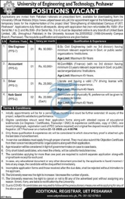 uet-jobs-2020-peshawar-university-of-engineering-and-technology