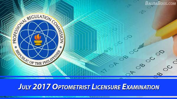 Optometrist July 2017 Board Exam