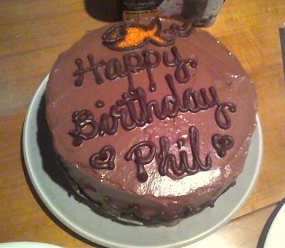 Disgruntled Baker Phil S Birthday Cake