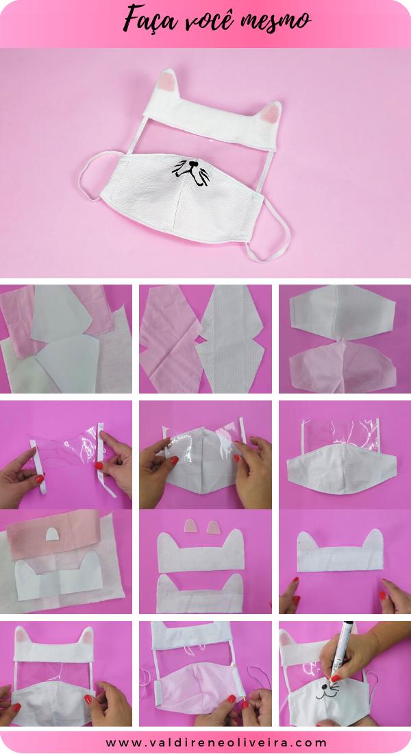 como fazer mascara de tecido infantil