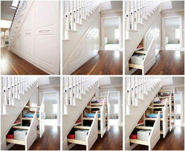 Sangat Kreatif! Orang Ini Memanfaatkan Tangga Rumah Sebagai Almari dan Laci Tersembunyi