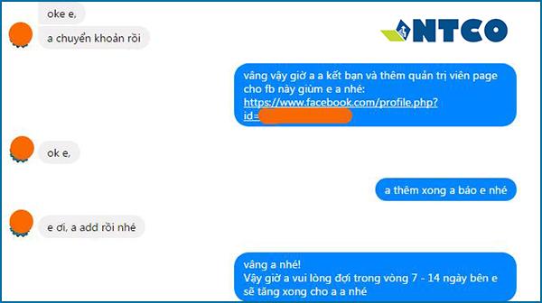 tang like fanpage feedback