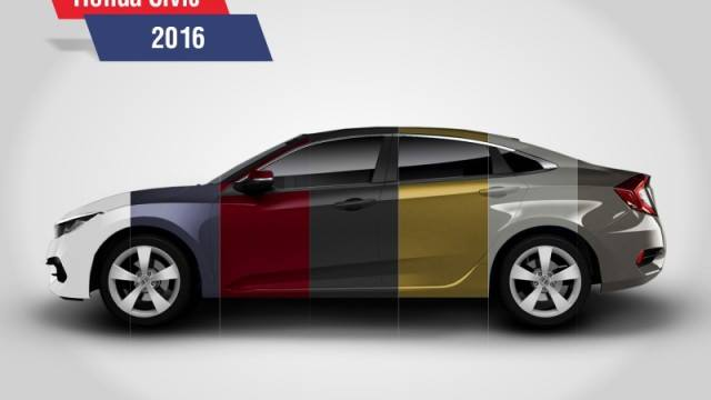 Honda Discloses Civic 2016 In 7 Bright And Bold Colors