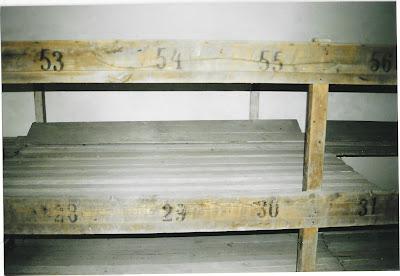 Bedden voor gevangenen in Theresiënstadt