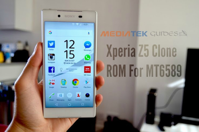 Xperia Z5 Based Rom For All MT6589 Devices