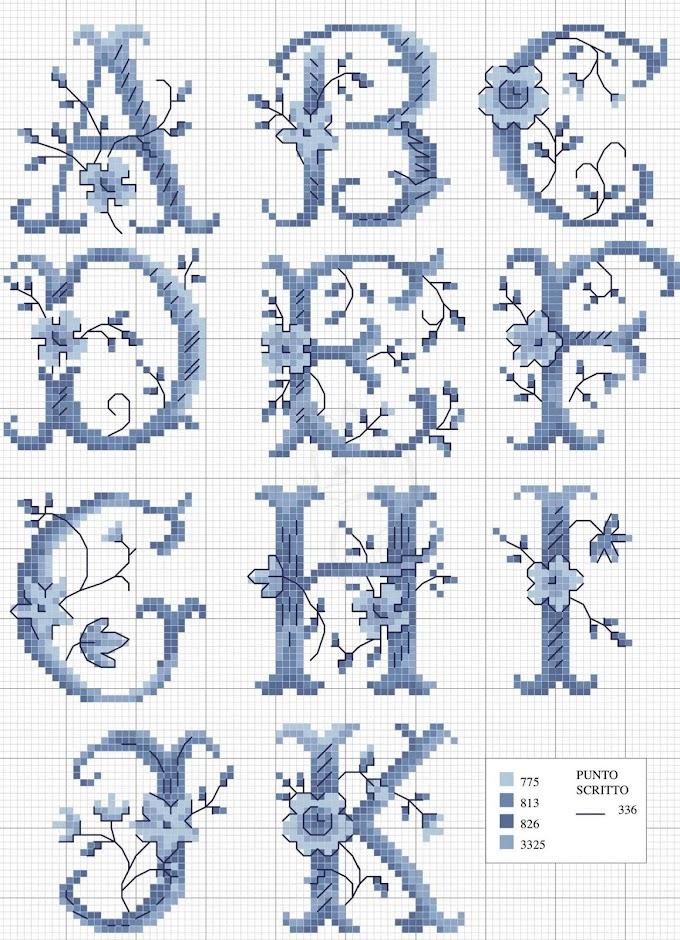 Alfabeto e monogrammi a punto croce free