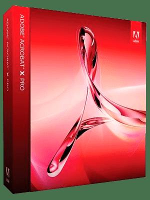 Adobe Acrobat X Pro box