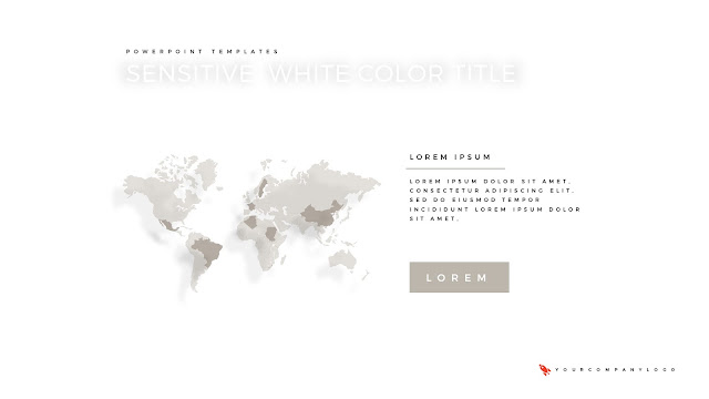 World Map of Premium PowerPoint Template with Whit Title