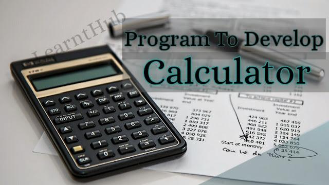Calculator In C Programming