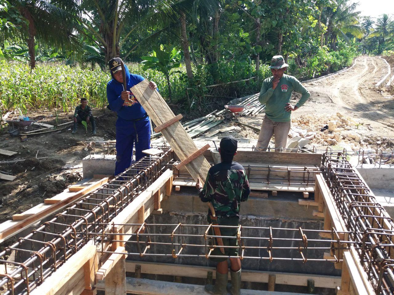Satgas Pra TMMD ke 104 Kodim 1407 Bone Kebut Pekerjaan Jembatan, Ini Kondisi Terakhir