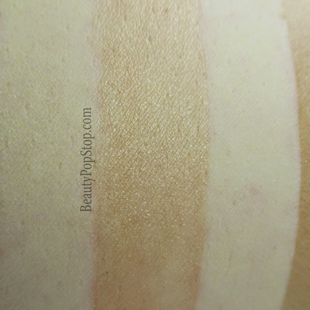 pacifica coconut crushed pearl bronzer body butter swatch