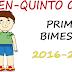 EXAMEN PARA PRIMER BIMESTRE-QUINTO GRADO (2016-2017)