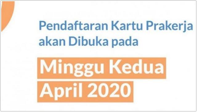 PENDAFTARAN KARTU PRA KERJA DIUNDUR 11 APRIL 2020