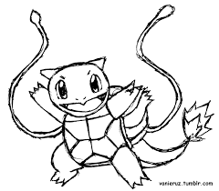 Squirtle coloring page 8