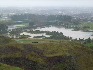 Halswell Quarry in a flood