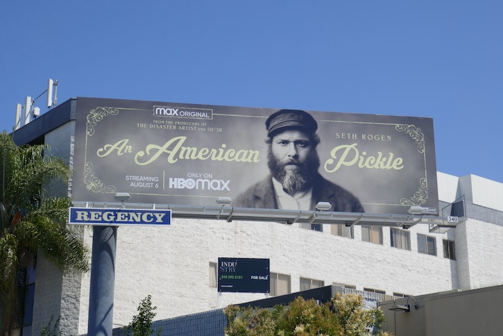 An American Pickle movie billboard